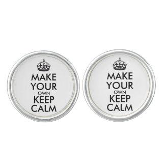 Boutons De Manchette Faites vos propres garder le calme