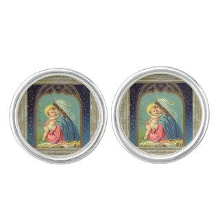 Boutons De Manchette Nativité Mary et le bébé Jésus