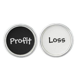 Boutons De Manchette Nouveauté financière de comptable de perte drôle