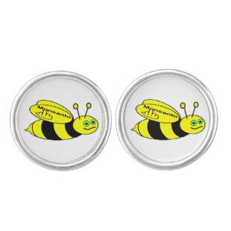 Boutons De Manchette Secousse d'abeille de Monsanto de boutons de