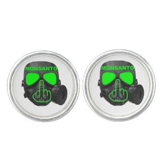 Boutons De Manchette Secousse de masque de gaz de Monsanto de boutons