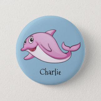 Boutons nommés faits sur commande de dauphin badge rond 5 cm