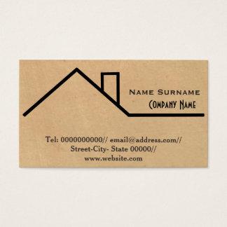 bouw, bouwer, timmerman, het remodelleren visitekaartjes