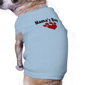Boy Dog Shirt de maman Tee-shirts Pour Animaux Domestiques