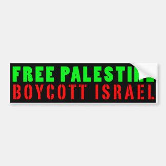 BOYCOTT LIBRE ISRAËL - adhésif pour pare-chocs de Autocollant De Voiture
