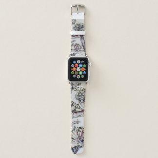 "Bracelet Apple Watch ""bande de fleur de brittmarks """