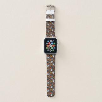 Bracelet Apple Watch Bande de montre éffrayante d'Apple de cuir de