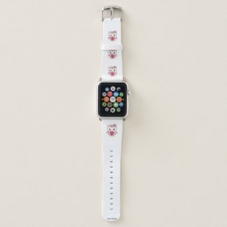 Bracelet Apple Watch Bande de montre graphique d'Apple de hibou rose