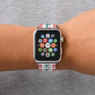 Bracelet Apple Watch Bande de montre laide de pomme de motif de