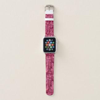 Bracelet Apple Watch Bande de montre rose d'Apple de camouflage