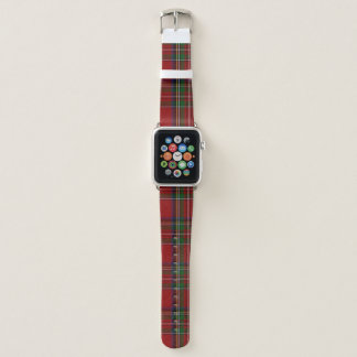 Bracelet Apple Watch Bande de montre royale d'Apple de plaid de Stewart