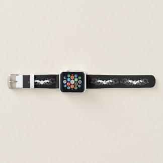 Bracelet Apple Watch Battes blanches de Goth