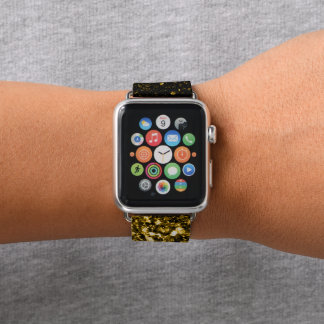 Bracelet Apple Watch Belles étincelles d'or jaune