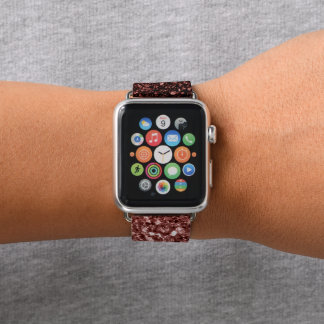 Bracelet Apple Watch Belles étincelles rouges fascinantes de parties