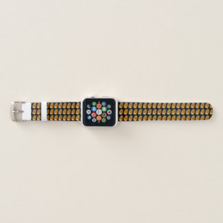 Bracelet Apple Watch Brown et motif noir de sports du football