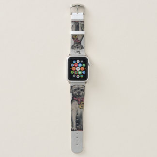 Bracelet Apple Watch Chien gris avec la bande de montre de Bell Apple