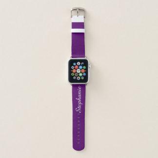 Bracelet Apple Watch CHOISISSEZ VOTRE couleur faite sur commande nommée