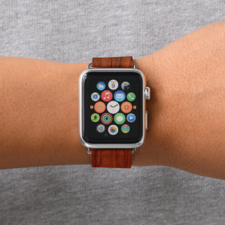 Bracelet Apple Watch Copie en bois d'acajou