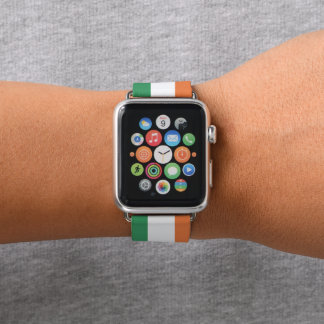 Bracelet Apple Watch Couleurs de drapeau de l'Irlande
