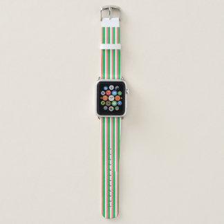 Bracelet Apple Watch couleurs irlandaises de drapeau
