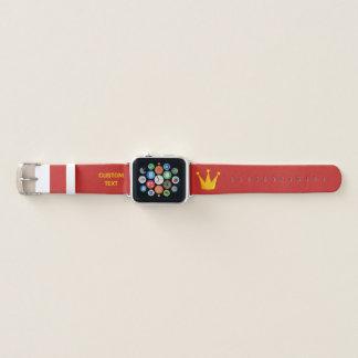Bracelet Apple Watch Couronne de la Reine de gril