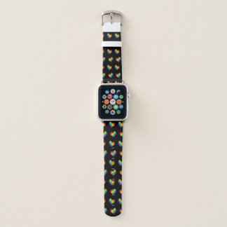 Bracelet Apple Watch Fierté des coeurs LGBT d'arc-en-ciel