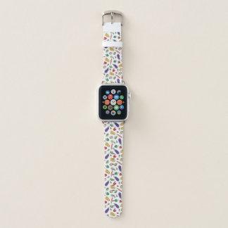 Bracelet Apple Watch Griffonnages d'ingrédients de nourriture