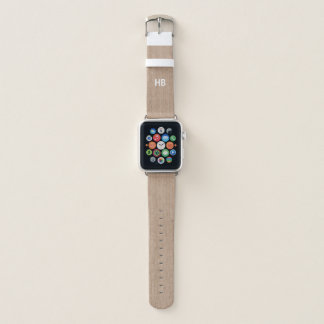 Bracelet Apple Watch La texture en bois Apple de Faux observent la