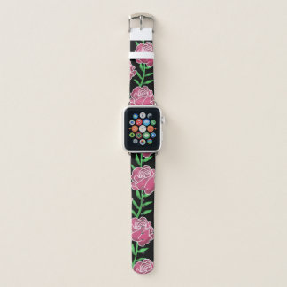 Bracelet Apple Watch Les roses Apple d'aquarelle observent la bande en