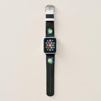 Bracelet Apple Watch Loup délabré mignon avec la bande de montre