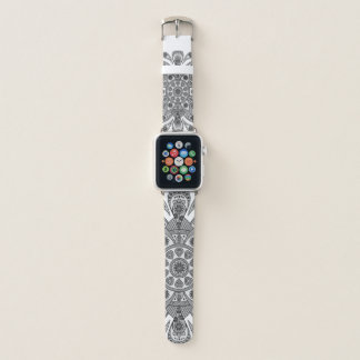Bracelet Apple Watch Mandala Tiga Abu Abu