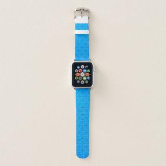 Bracelet Apple Watch Motif bleu géométrique élégant de feuille