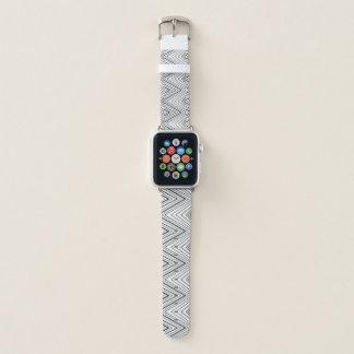 Bracelet Apple Watch Motif gris d'abrégé sur Chevron de blanc gris