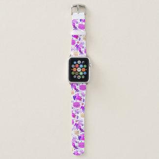 Bracelet Apple Watch Motif mignon de chats de bande dessinée
