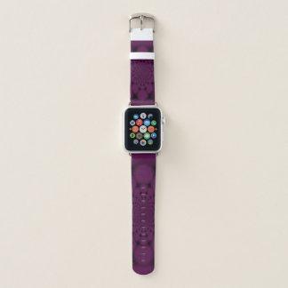 Bracelet Apple Watch Noir pourpre de kaléidoscope