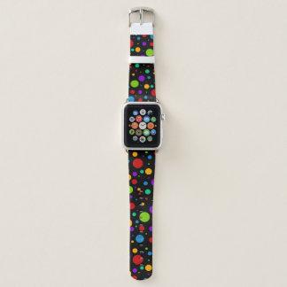 Bracelet Apple Watch Point de polka d'arc-en-ciel