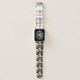 Bracelet Apple Watch pose de chien de montagne bernese