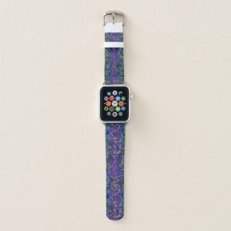 Bracelet Apple Watch Pourpre et mandala celtique de noeud de coeur de