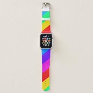 Bracelet Apple Watch Rayure d'arc-en-ciel