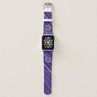 Bracelet Apple Watch Traçages pourpres de lilas de prune de lavande de