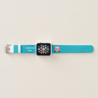Bracelet Apple Watch Voiture de bande dessinée de porc