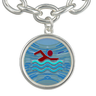 Bracelet Avec Breloques Amie de natation de la récompense NVN260 de nageur