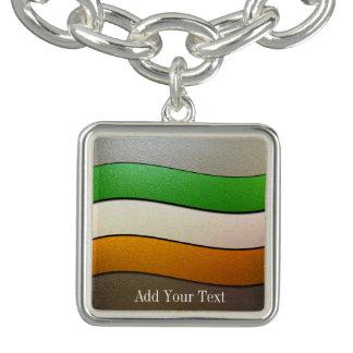 Bracelet Avec Breloques Couleur-Chrome de drapeau de l'Irlande par Shirley