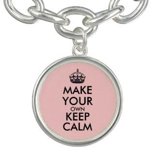 Bracelet Avec Breloques Faites vos propres garder le calme - noir