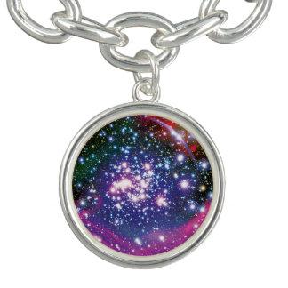 Bracelet Avec Breloques Impression colorée d'artiste de groupe d'étoile de