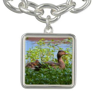 Bracelet Avec Breloques Mallard et Caneton-Natation par Shirley Taylor