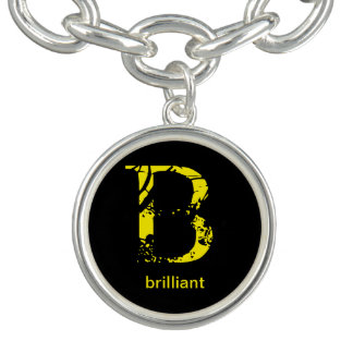 Bracelet Avec Breloques signification de porte - clé de la lettre B