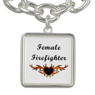 Bracelet Avec Breloques Tatouage femelle de sapeur-pompier