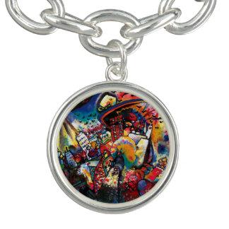 Bracelet Avec Breloques Wassily Kandinsky - art abstrait de paysage urbain