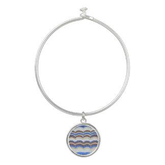 Bracelet bleu de bracelet de mosaïque avec le